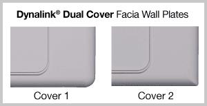 Dynalink dual cover facia wallplates