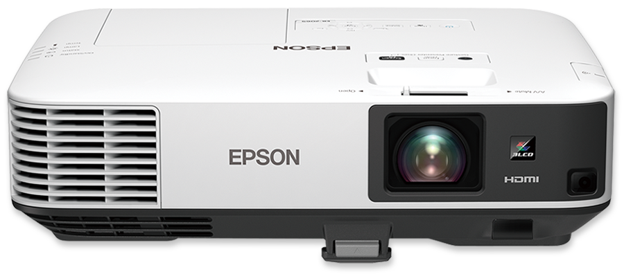 Epson EB-2155W 5000 Lumen WXGA Portable Multimedia 3LCD Projector - front view