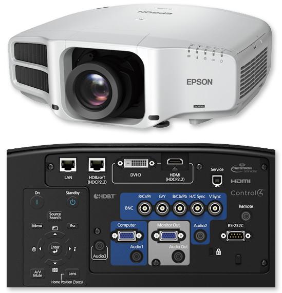 Epson Eb G7400unl Wuxga 4k Enhancement 5500 Lumens Hdbaset Installation Multimedia Projector