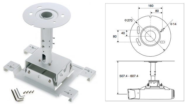 Epson Elpmb26 Ceiling Mount For Z Series Projectors