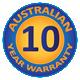 10 Year Australian Warranty