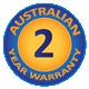 2 Year Australian Warranty
