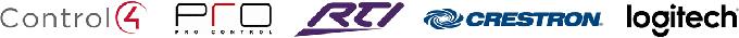 Control4, Crestron, ProControl, RTI, Pronto and Logitech Harmony integration