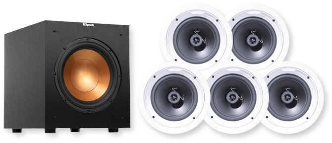 klipsch speaker products preview ceiling speakers in view