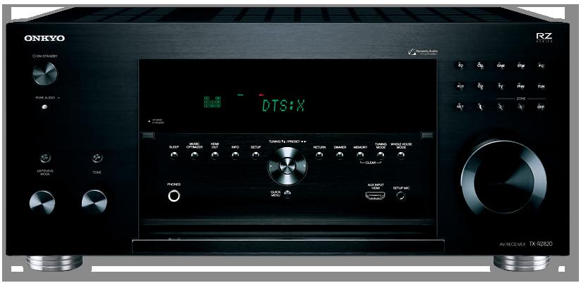 Onkyo TX-RZ820 7.2-Ch THX, 4K, HDR, DTS-X & Dolby Atmos Network AV Receiver - front