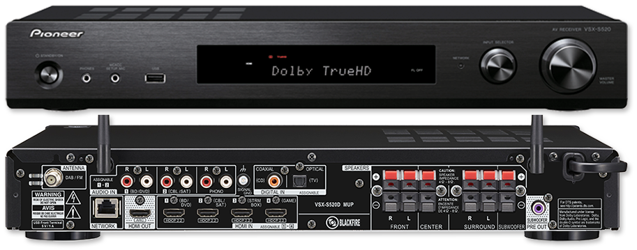 Pioneer VSX-S520 Slim 5.1 Network AV Receiver   AV ...