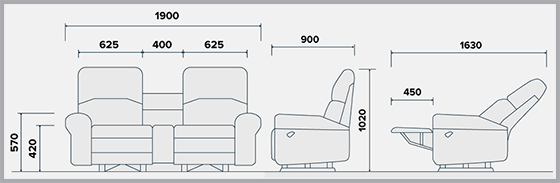 SCS Grand Recliner measurements