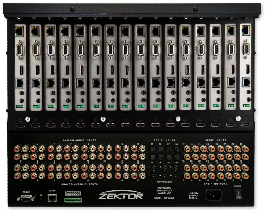 Zektor Palladia IV 16x16 HDMI Matrix With Audiophile Quality Audio
