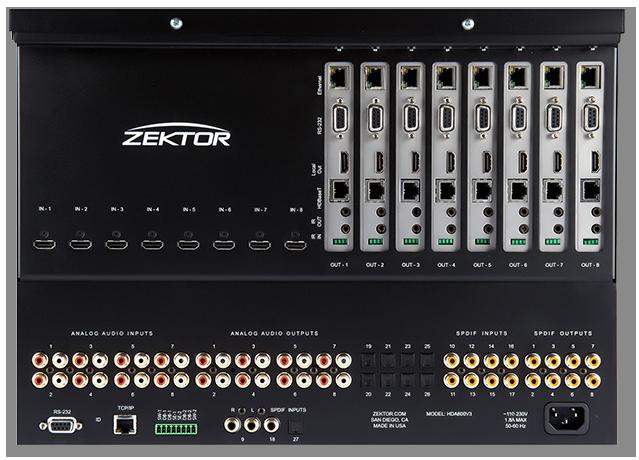 Zektor Palladia IV 8x4 HDMI Matrix With Audiophile Quality Audio